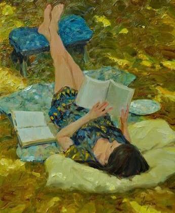 foto mujer leyendo